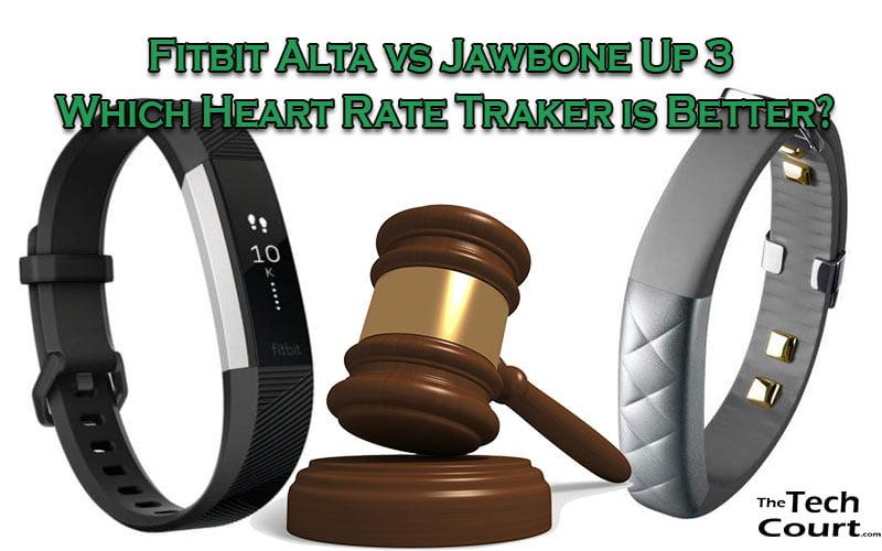 Fitbit Alta vs Jawbone Up 3