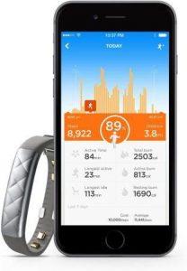 Jawbone UP3 HR tracking