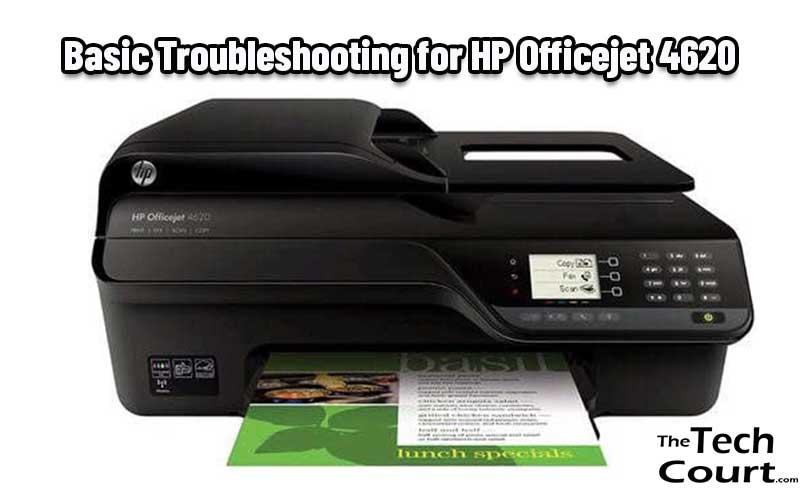 HP Officejet 4620 Troubleshoot