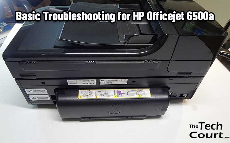 HP Officejet 6500a Troubleshoot