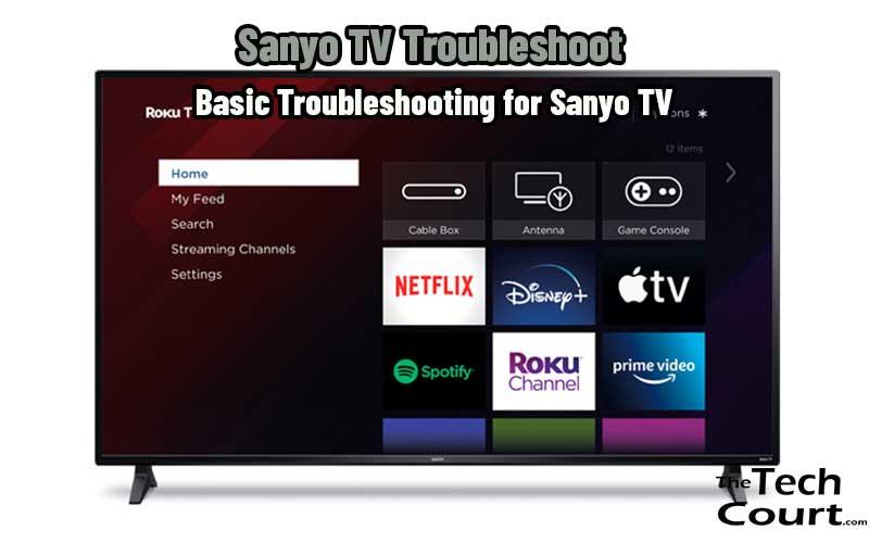 Sanyo TV Troubleshoot