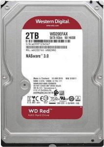 Western Digital 2TB WD Red NAS Internal Hard Drive