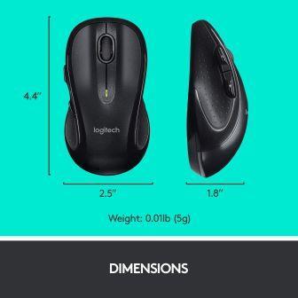 Logitech MK710 mouse size