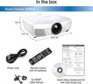 Epson 4010 home cinema 4 projector