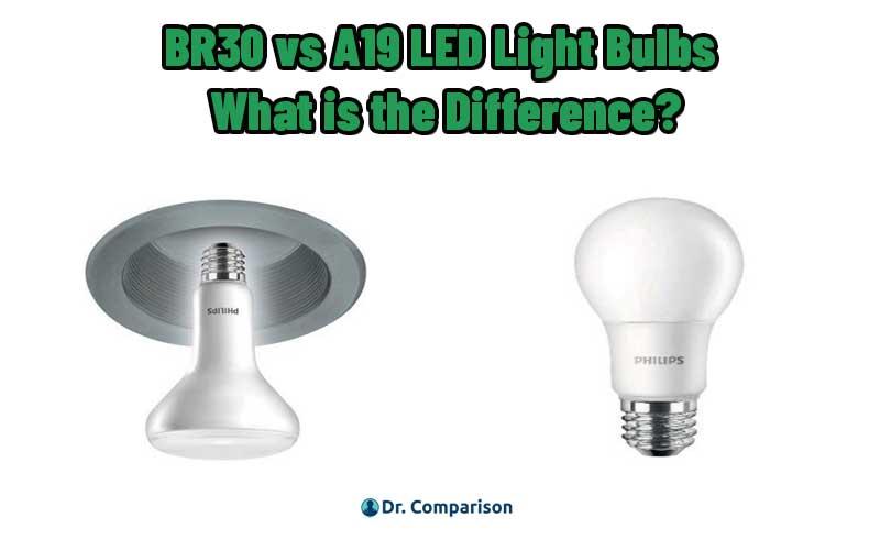 BR30 vs A19 LED Light Bulbs
